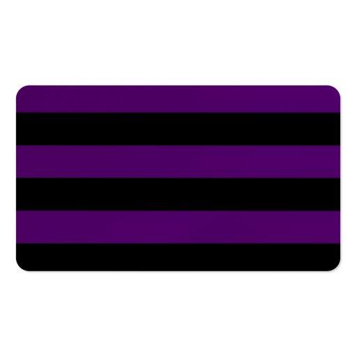Rayas - negras y violeta oscura tarjeta personal