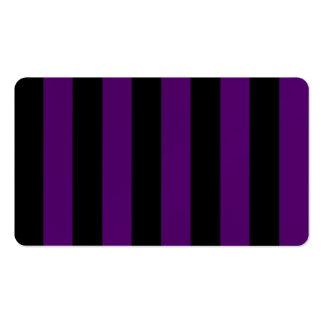 Rayas - negras y violeta oscura tarjetas de visita