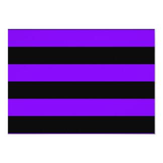 Rayas - negro y violeta invitaciones personales