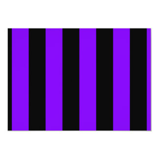 Rayas - negro y violeta invitación