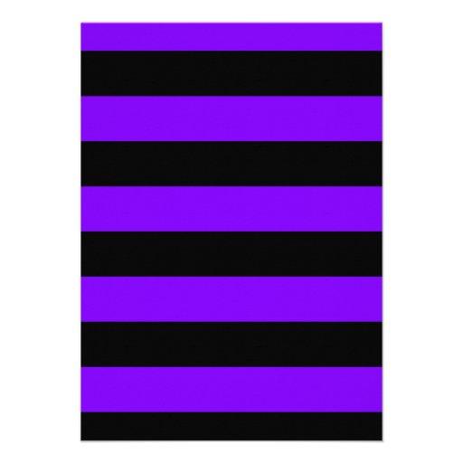 Rayas - negro y violeta comunicados