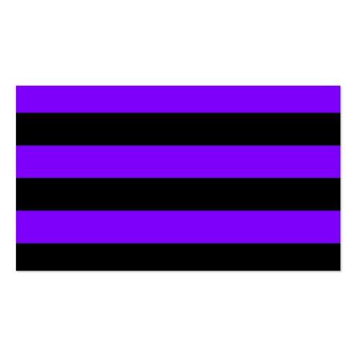 Rayas - negro y violeta plantillas de tarjetas de visita