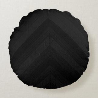 Rayas oscuras texturizadas cojín redondo
