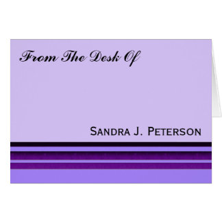 Rayas púrpuras del negocio tarjeta pequeña