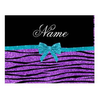 Rayas púrpuras en colores pastel conocidas de postal
