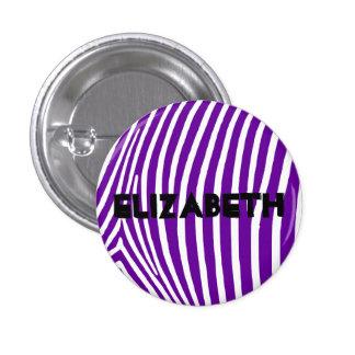 Rayas púrpuras violetas personalizadas de la cebra chapa redonda de 2,5 cm