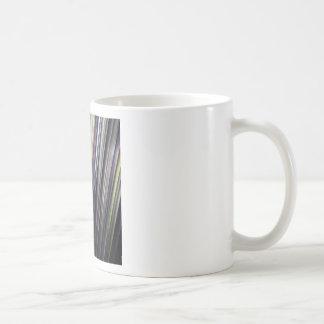 Rayas que brillan intensamente coloridas taza de café