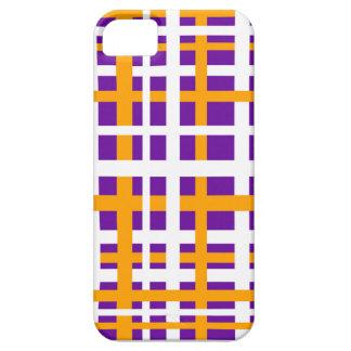 Rayas que entrelazan de la púrpura y del naranja funda para iPhone SE/5/5s