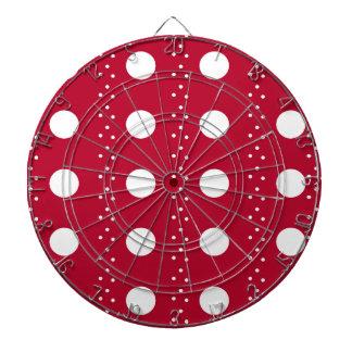 Rayas rojas de Polkadot Tablero De Dardos