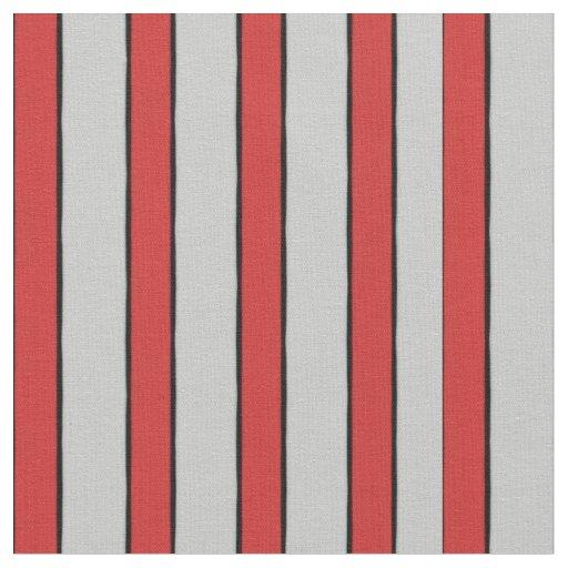 Rayas rojas y blancas tela