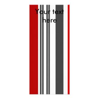 Rayas rojas y grises contemporáneas tarjetas publicitarias personalizadas