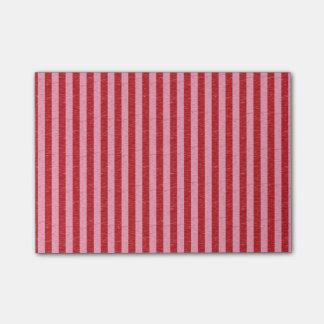 Rayas rojas y rosadas notas post-it®