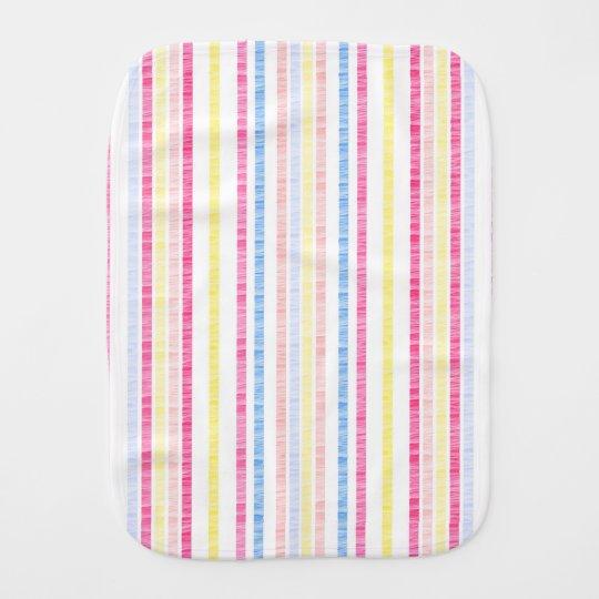 Rayas rosadas de muy buen gusto de la sirsaca del paños para bebé