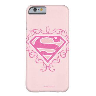 Rayas rosadas de Supergirl Funda De iPhone 6 Barely There