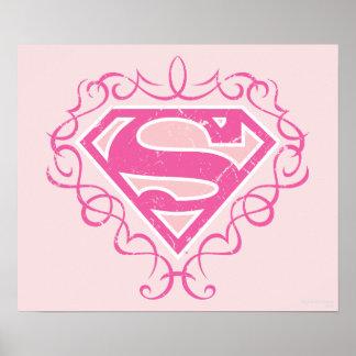 Rayas rosadas de Supergirl Póster