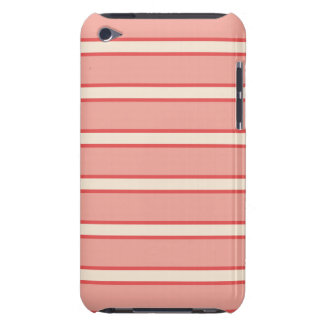 Rayas rosadas lindas carcasa para iPod