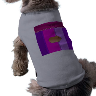 Rayas rosadas púrpuras personalizadas del hámster camiseta sin mangas para perro