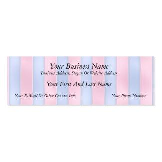 Rayas rosadas y azules tarjetas de visita mini