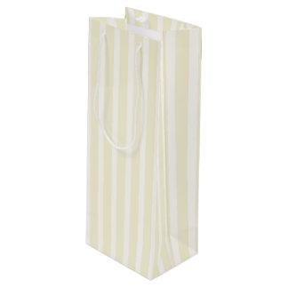 Rayas suaves neutrales amarillo claro bolsa para vino