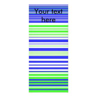 Rayas verdes claras y azules blancas contemporánea tarjeta publicitaria personalizada