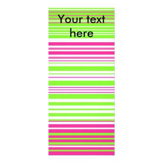 Rayas verdes claras y rosadas contemporáneas lonas