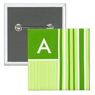Rayas verdes modernas Rayado Pins