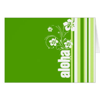 Rayas verdes; Rayado; Hawaiana Tarjetas