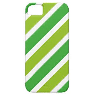 Rayas VERDES retras iPhone 5 Case-Mate Cobertura