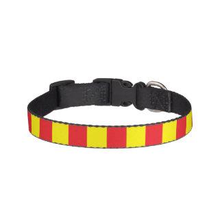 Rayas verticales amarillas y rojas collares de perro