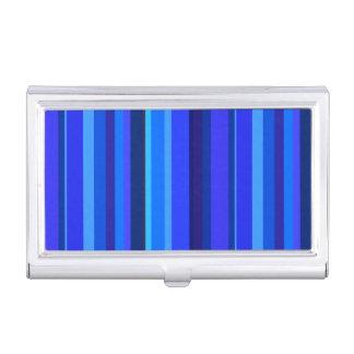 Rayas verticales azules caja para tarjetas de visita