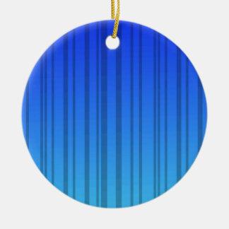 Rayas verticales azules eléctricas; Rayado Adorno Redondo De Cerámica
