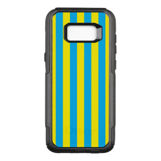 Rayas verticales azules y amarillas funda otterbox commuter para samsung galaxy s8+