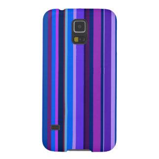 Rayas verticales azules y púrpuras carcasa galaxy s5