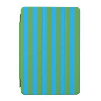 Rayas verticales azules y verdes cover de iPad mini