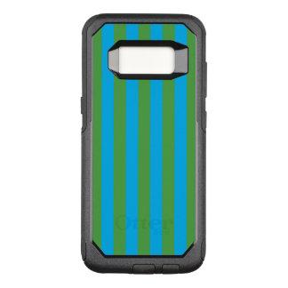Rayas verticales azules y verdes funda commuter de OtterBox para samsung galaxy s8