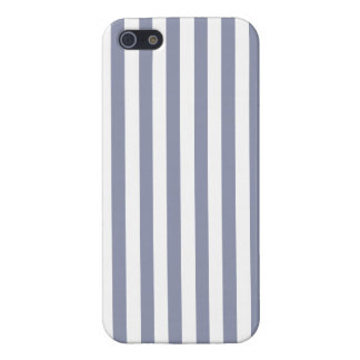 Rayas verticales Gris-Azules; Rayado iPhone 5 Funda