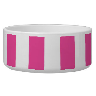 Rayas verticales rosadas comedero para mascota