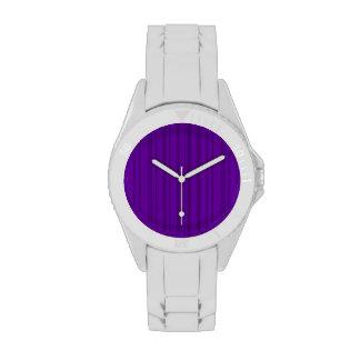 Rayas verticales violetas oscuras relojes de mano