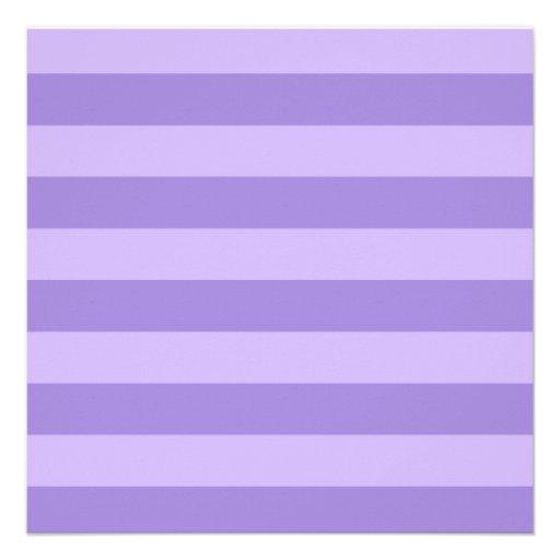 Rayas - violetas y violadas claras comunicado personalizado