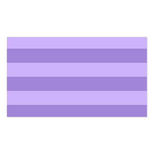Rayas - violetas y violadas claras plantilla de tarjeta personal