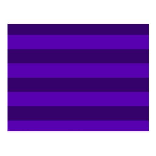 Rayas - violetas y violeta oscura postal