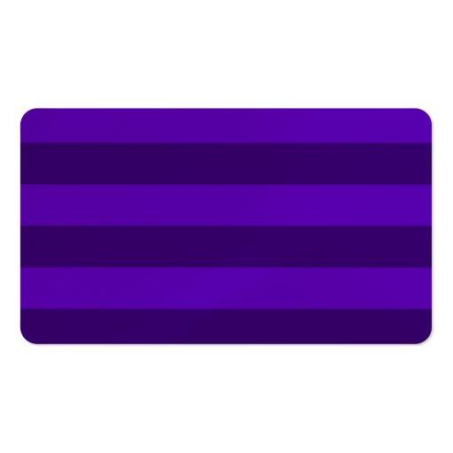 Rayas - violetas y violeta oscura tarjeta personal