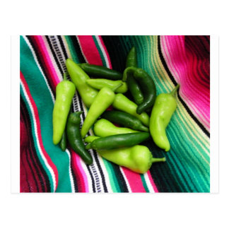 Rayas y Chile coloridos de Serape Postal