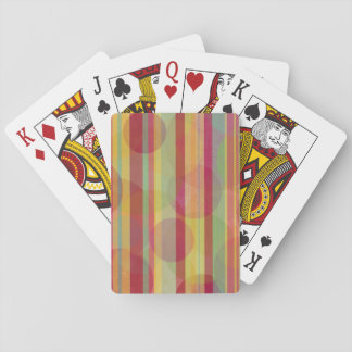 Rayas y círculos multicolores baraja de cartas