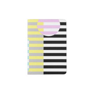 rayas y colores portapasaportes