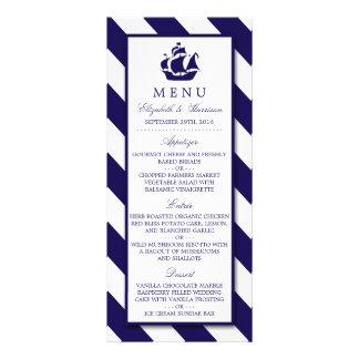 Rayas y menú náuticos del boda de la nave de los lonas publicitarias
