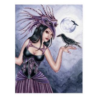 Rayne - postal de la bruja del cuervo