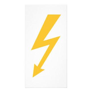 Rayo de destello amarillo tarjetas personales