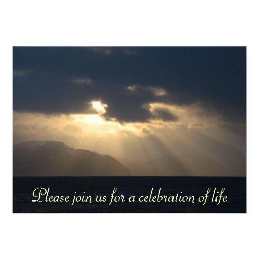 Rayo de la invitación de la ceremonia conmemorativ