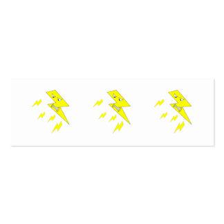 Rayo enojado. Amarillo en blanco Tarjetas De Visita Mini